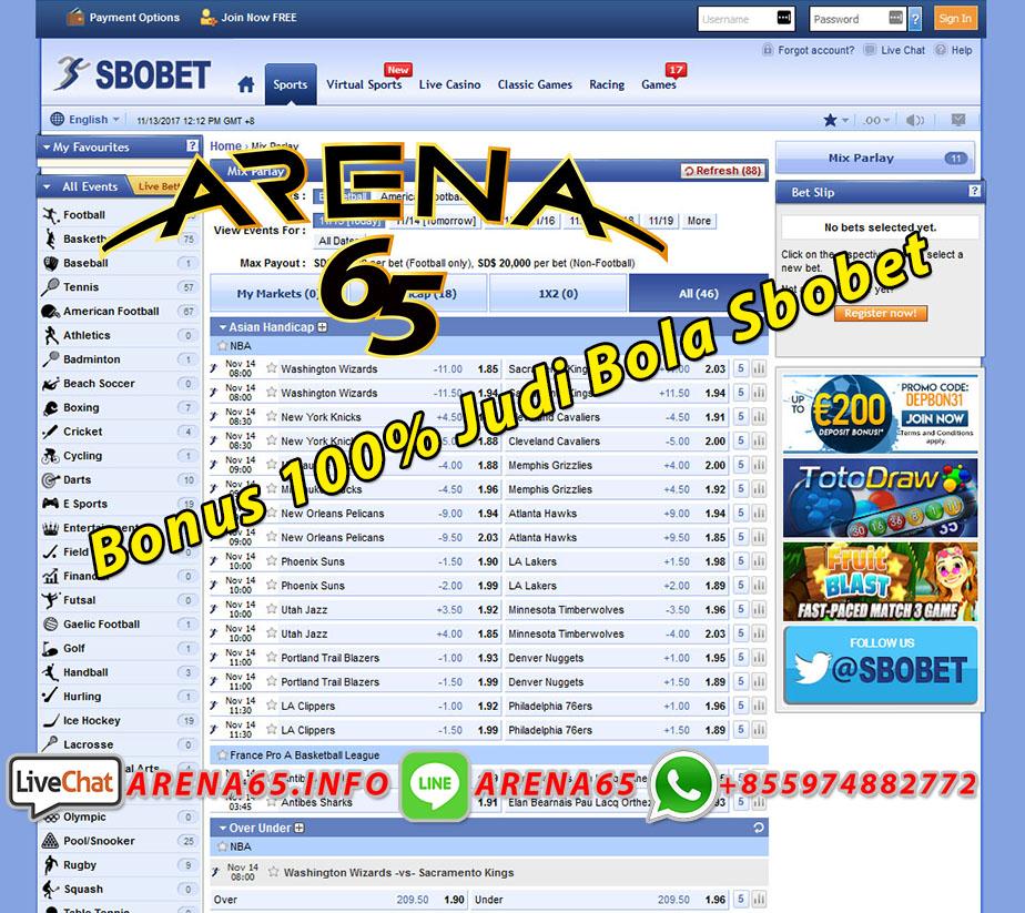 Bonus 100 Judi Bola Sbobet Bursa Taruhan Bola Sbobet Arena65