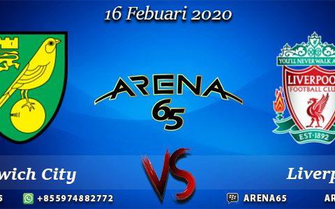 Prediksi Norwich City Vs Liverpool 16 Febuari 2020