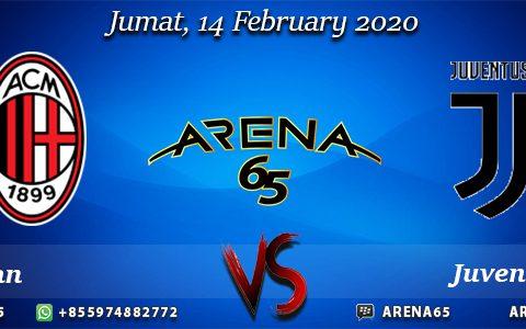 Prediksi Milan Vs Juventus 14 February 2020