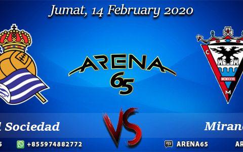 Prediksi Real Sociedad Vs Mirandés 14 February 2020
